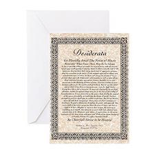 desiderata de lis rose stone Greeting Cards (Pk of
