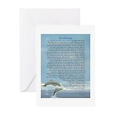 DESIDERATA Careful Dolphins Greeting Card