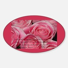 Shower of Roses, St. Therese Oval Decal