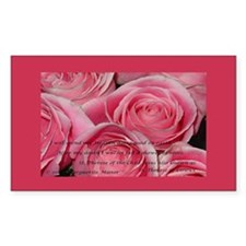 Shower of Roses, St. Therese Rectangle Decal