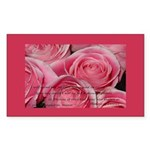 Shower of Roses, St. Therese Rectangle Sticker