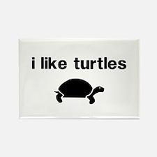 I Like Turtles Rectangle Magnet (10 pack)