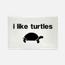 I Like Turtles Rectangle Magnet