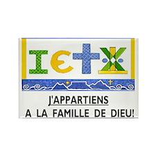 Francais: La Famille Rectangle Magnet