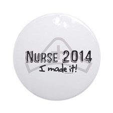 Nurse Graduated 2014 Ornament (Round)