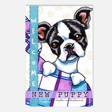 Boston Terrier New Puppy Announcements Postcards 8