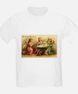 Victorian Christmas - Angels with Baby Jesus T-Shirt
