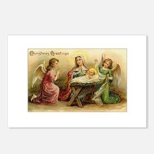 Victorian Christmas - Angels with Baby Jesus Postc