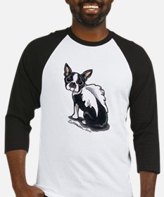 Boston Terrier Angel Baseball Jersey