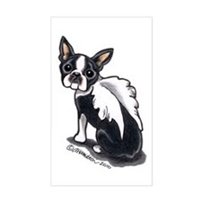 Boston Terrier Angel Decal