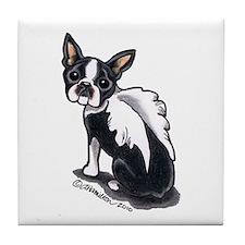 Boston Terrier Angel Tile Coaster