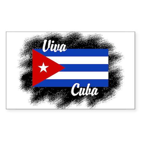 Viva Cuba Rectangle Sticker