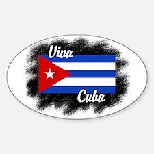 Viva Cuba Oval Decal