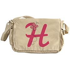 Letter H Monogram Messenger Bag