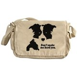 Border collie Messenger Bag