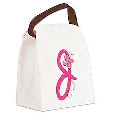 Letter J Monogram Canvas Lunch Bag