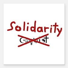 "Solidarity Square Car Magnet 3"" x 3"""