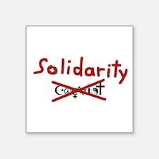 """Solidarity Square Sticker 3"""" x 3"""""""