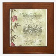DESIDERATA Careful Bamboo Butterflies Framed Tile