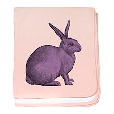 Purple Bunny Rabbit baby blanket