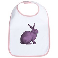 Purple Bunny Rabbit Bib