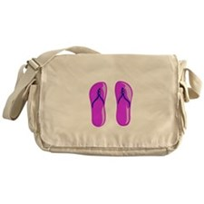 fuschia purple beaded sandals Messenger Bag