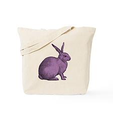 Purple Bunny Rabbit Tote Bag