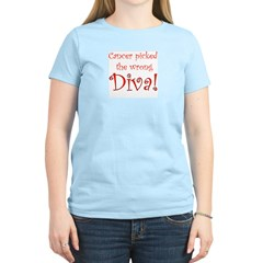 Cancer Picked the Wrong Diva Women's Pink T-Shirt