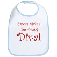 Cancer Picked the Wrong Diva Bib