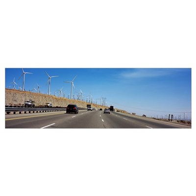 Vehicles on the road, Los Angeles, California Framed Print