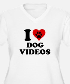 I Love Dog Videos T-Shirt