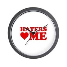 Haters Love Me Wall Clock