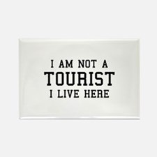 I Am Not A Tourist Rectangle Magnet (100 pack)