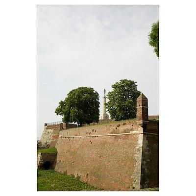 Wall of a citadel, Victory Monument, Kalemegdan Ci Poster