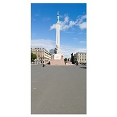 War memorial in a city, Freedom Monument, Riga, La Framed Print