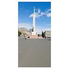 War memorial in a city, Freedom Monument, Riga, La Poster