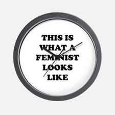 This Is What A Feminist Looks Like Wall Clock