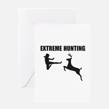 Extreme Hunting Greeting Card