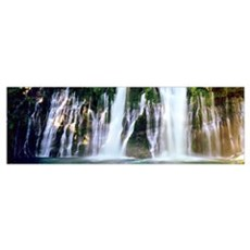 Waterfall in a forest, McArthur-Burney Falls Memor Poster
