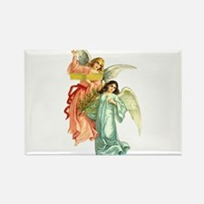 Beautiful Victorian Angels Singing Rectangle Magne