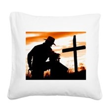 """Cowboy Prayer"" Square Canvas Pillow"