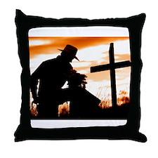 """""""Cowboy Prayer"""" Throw Pillow"""