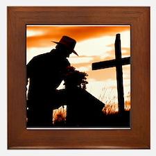 """""""Cowboy Prayer"""" Framed Tile"""