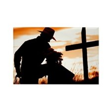"""Cowboy Prayer"" Rectangle Magnet"