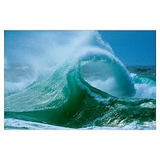 Waves splashing in the sea Poster