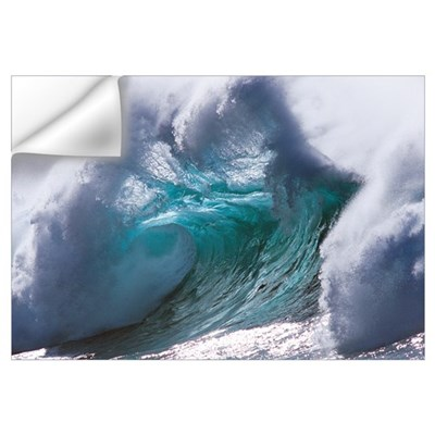 Waves splashing in the sea Wall Decal
