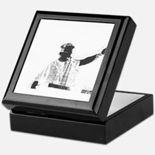 Speaker hand up grey white Keepsake Box