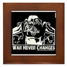 War never changes Framed Tile