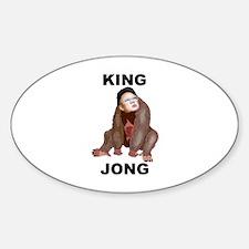 Kim Jong Il - King Jong Oval Decal