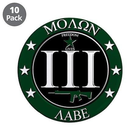 """Molon Labe 3.5"""" Button (10 pack)"""